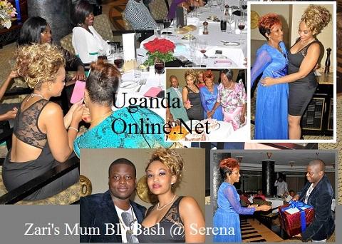 Zari and close family members at Serena Hotel