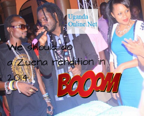 Bebe Cool chatting with Moze Radio as Zuena looks on
