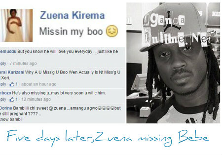Zuena missing Bebe Cool