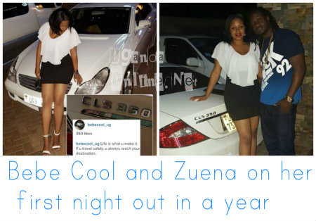 Bebe Cool and Zuena on her first night out in a year