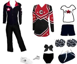 CHEER UNIFORM GRAND TOTAL 5 STAR PACKAGE