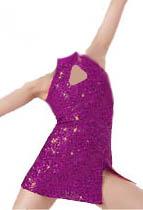 SEQUIN KEYHOLE ALINE DRESS.