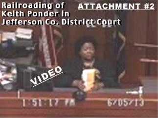 See Video of Keith's June 5, 2013 Railroaded Court Appearance