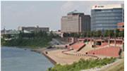 Evansville's riverfront