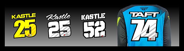 motocross jersey lettering