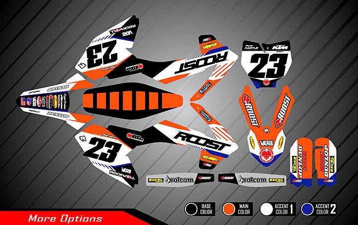 Roost MX - Motocross Graphics - Mini Graphics for KTM - S-Mobe