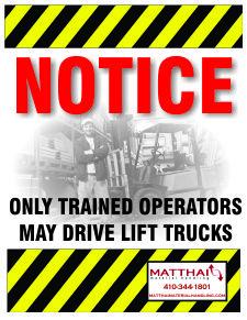 Forklift Operator Notice