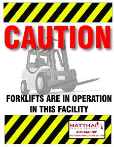 forklift awareness safety poster