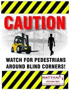 forklift pedestrian safety poster