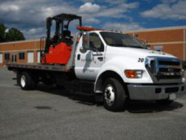 Forklift rental roll back delivery truck