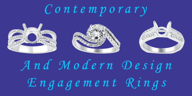 contemporary engagement rings and modern design engagement rings