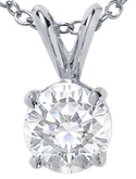 diamond soliltaire pendants for sale in chicago il illinois