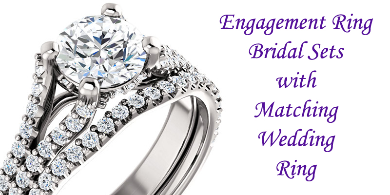 matching engagement rings and wedding rings bridal sets
