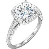 halo style engagement rings in chicago il illinois