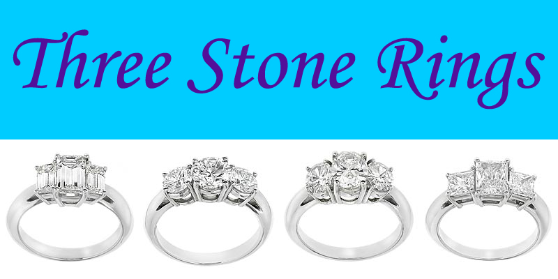 diamond three stone engagement rings chicago