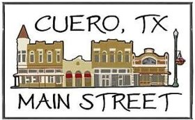 cuero, texas main street logo