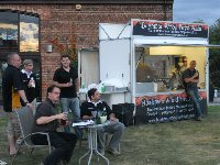 mobile wood fired pizza catering trailer