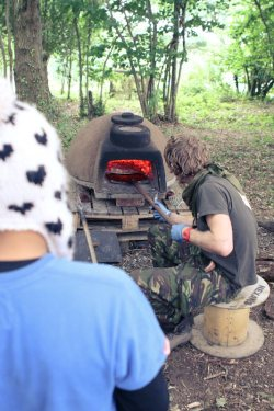 The Bushcraft company has 4 wood burning ovens .