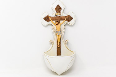 Crucifix Holy Water Font.