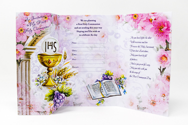 Communion Invitation Cards.