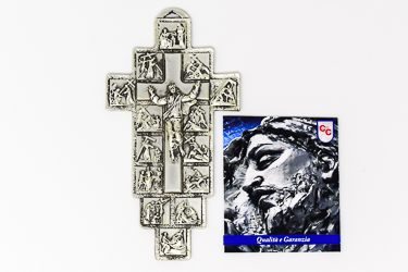 14 Stations of the Cross Metal Wall Plaque.