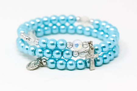 Miraculous Memory Wire Rosary Bracelet.