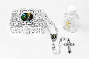 Lourdes Water & Rosary Gift Set.