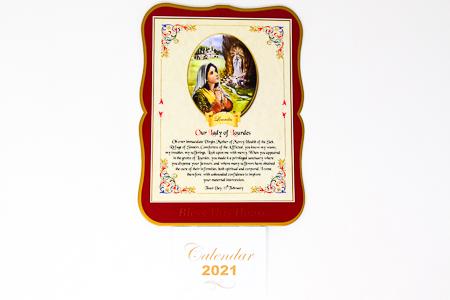 Lourdes & Bernadette - Calendar 2021.