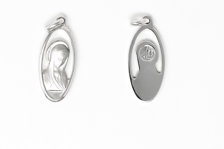 925 Silver Blessed Virgin Mary Pendant.