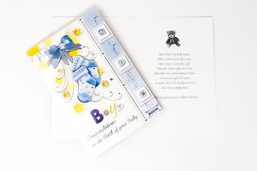 Boy's Baptism Card.