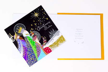3 Kings Handcrafted Christmas Card.