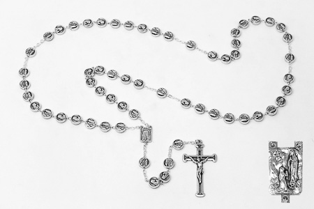 Lourdes Metal Rosary Beads.
