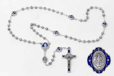 Blue Metal  Benedict Rosary.