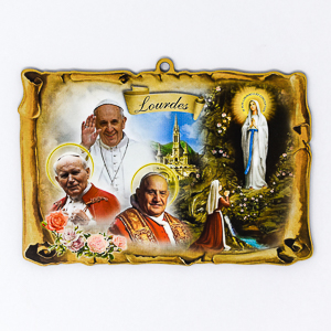 3 Pope Wall Plaque.