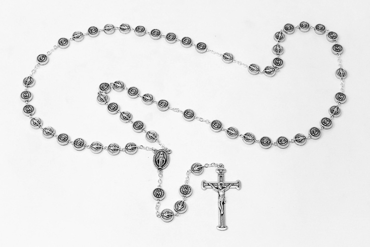 Catholic Gift Shop Ltd Miraculous Medal Silver Rosary