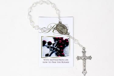 Single Decade Crystal Rosary.