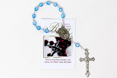 Single Decade Sapphire Rosary.