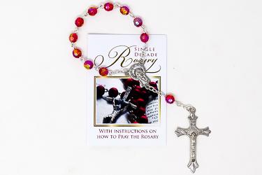 Single Decade Ruby Rosary.