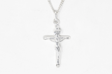 925 Sterling Silver Crucifix Necklace.