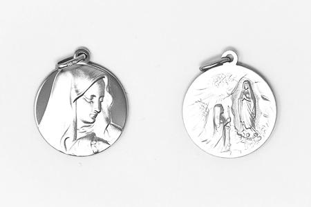 Double Faced Lourdes Pendant.