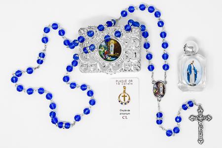 Cross Pendent & Rosary Gift Set.