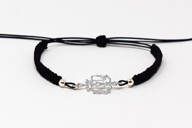 Lourdes Apparition Emblem Rope Bracelet.
