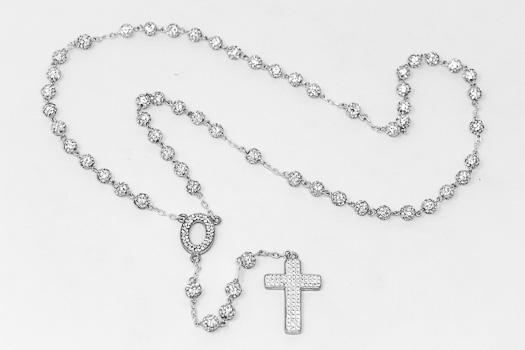 925 Crystal Rosary.