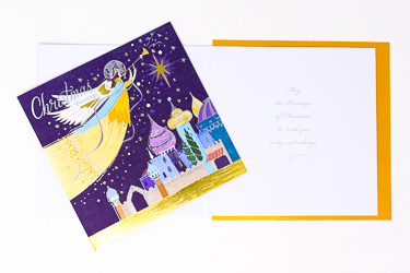 Angel Handcrafted Christmas Card.