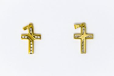 Solid Gold Cross Pendant