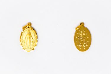 18 Karat Gold Miraculous Medal.