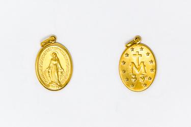 9 Karat Gold Miraculous Medal.