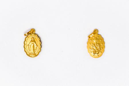 9 & 18 Karat Gold Miraculous Medal.