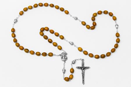 Acorn Olive Rosary Beads.