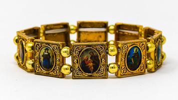All Saints Gold Faith Bracelet.
